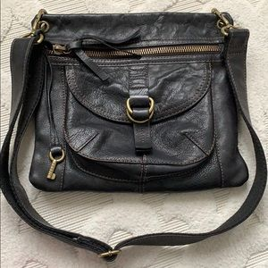 FOSSIL leather Adjustable crossbody shoulder bag